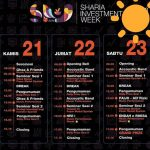 Jadwal Acara Sharia Investment Week (SIW) 2019